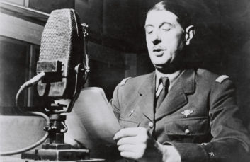 """"""" The Free French and their chief General de Gaulle"""""""