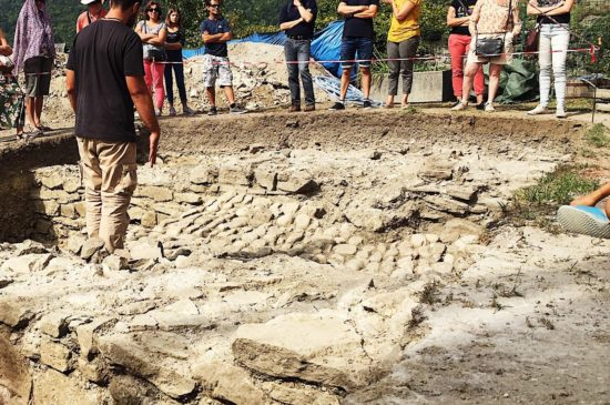 Guided tour on the archeological site of Bonneville castle
